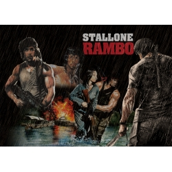 Rambo 1, 2, 3, John Rambo - Movie poster