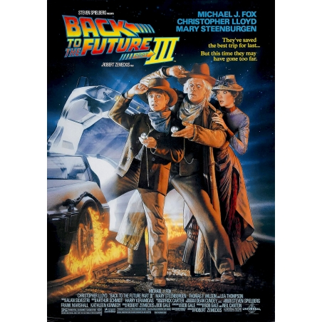 Back to the Future 3 - official cinema poster