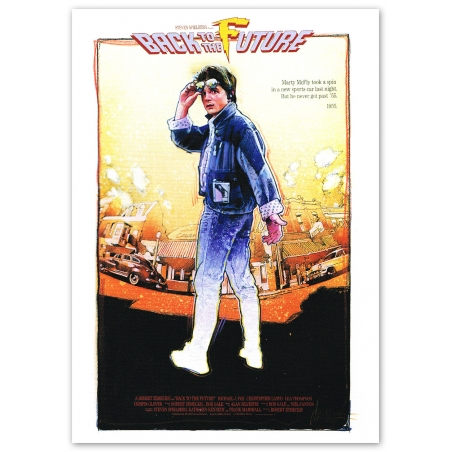 Back to the Future Movie Poster - Motif 2