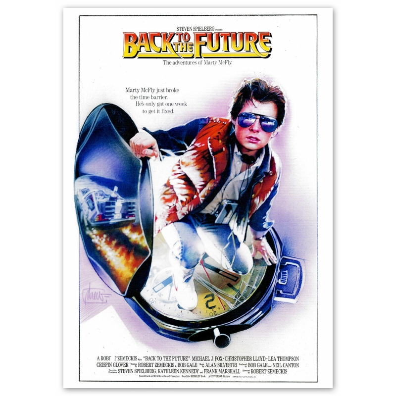 Back to the Future Movie Poster - Motif 3