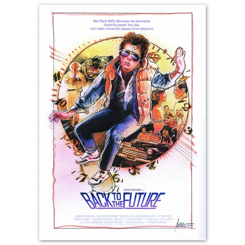 Back to the Future Movie Poster - Motif 1