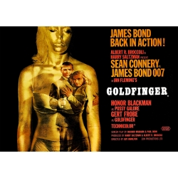 James Bond Goldfinger - Filmposter