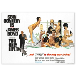 James Bond: You only live twice - Movie Poster