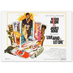 James Bond: Live and let die - Movie Poster
