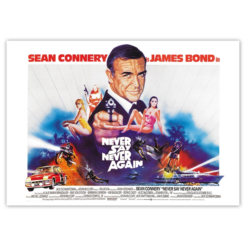 James Bond: Never say never again - Movie Poster
