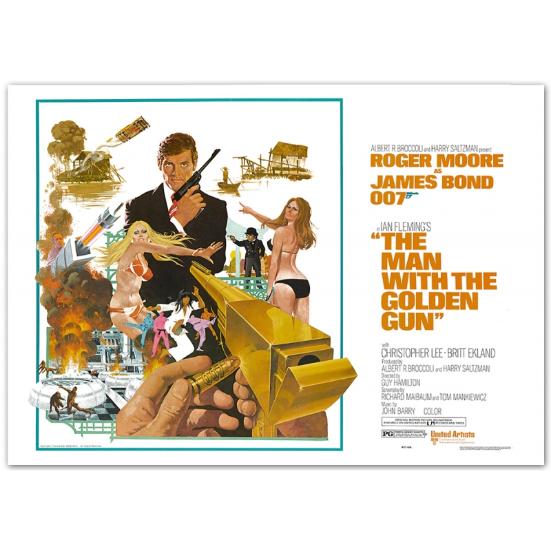 James Bond: The Man with the golden Gun - Movie Poster