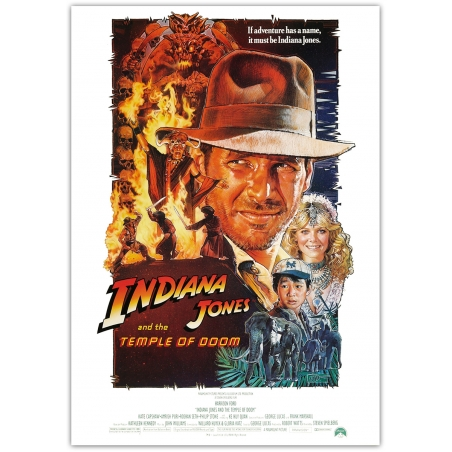 Indiana Jones and the Temple of Doom - Cinema Poster