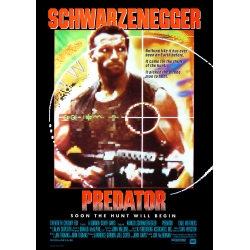 Schwarzenegger: Predator (1987) Movie Poster - Version 1