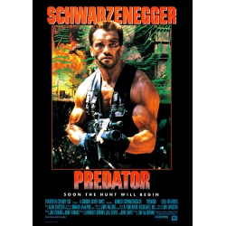 Schwarzenegger: Predator (1987) Movie Poster - Version 2
