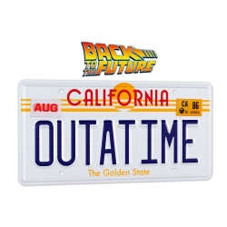 OUTATIME DeLorean license plate