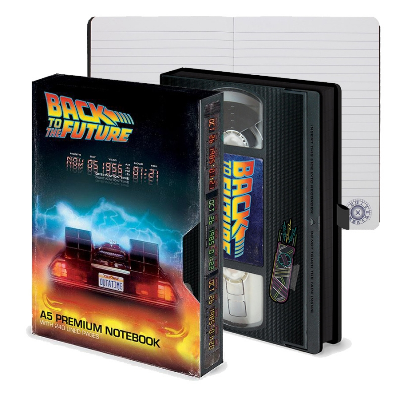 Back to the Future Premium Notebook VHS Style