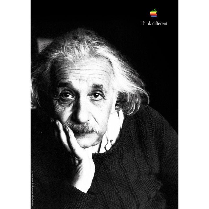 Albert Einstein Apple Poster