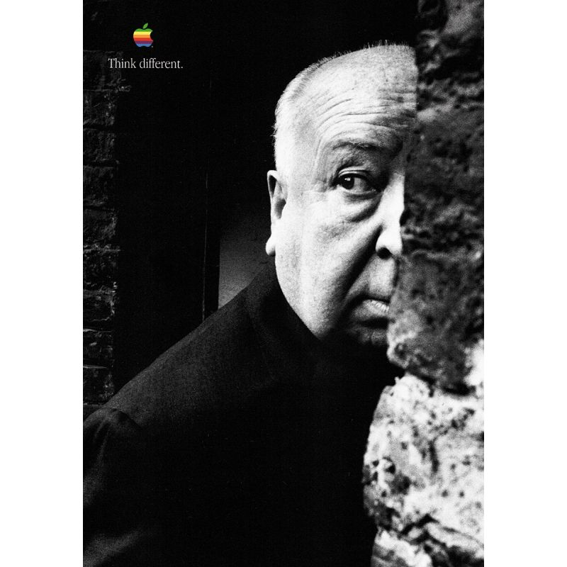 Apple Poster Alfred Hitchcock