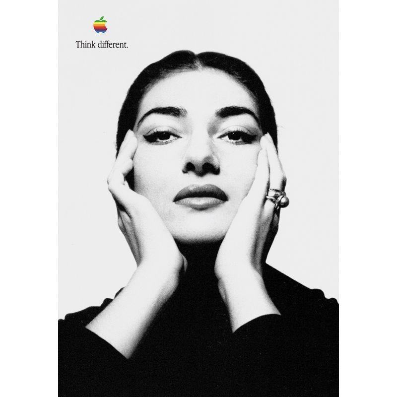 Apple Poster Maria Callas