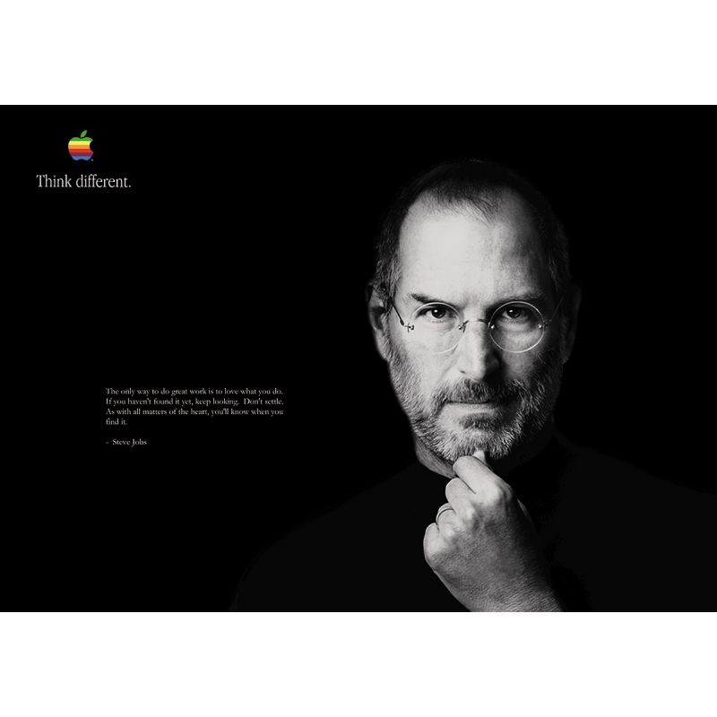 Apple Poster THINK DIFFERENT Steve Jobs
