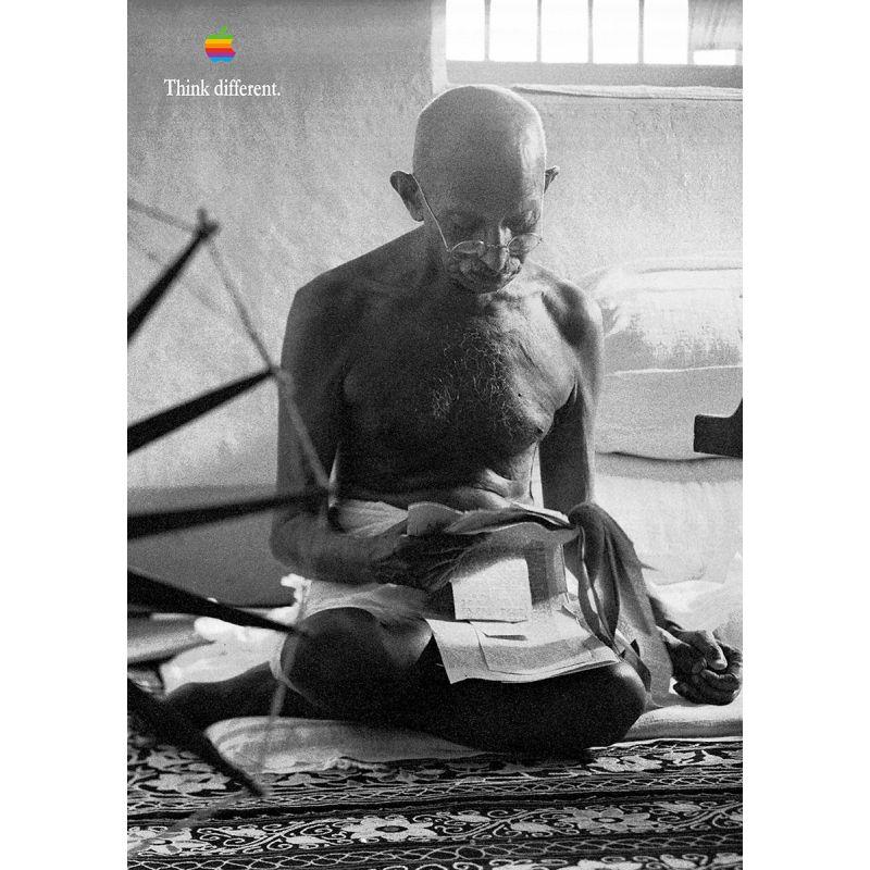 Apple Poster Mahatma Gandhi