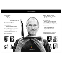 APPLE Poster Steve Jobs and the crazy ones