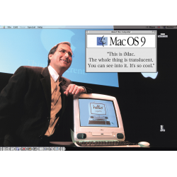 Apple Poster STEVE JOBS IMAC PRESENTATION 1984