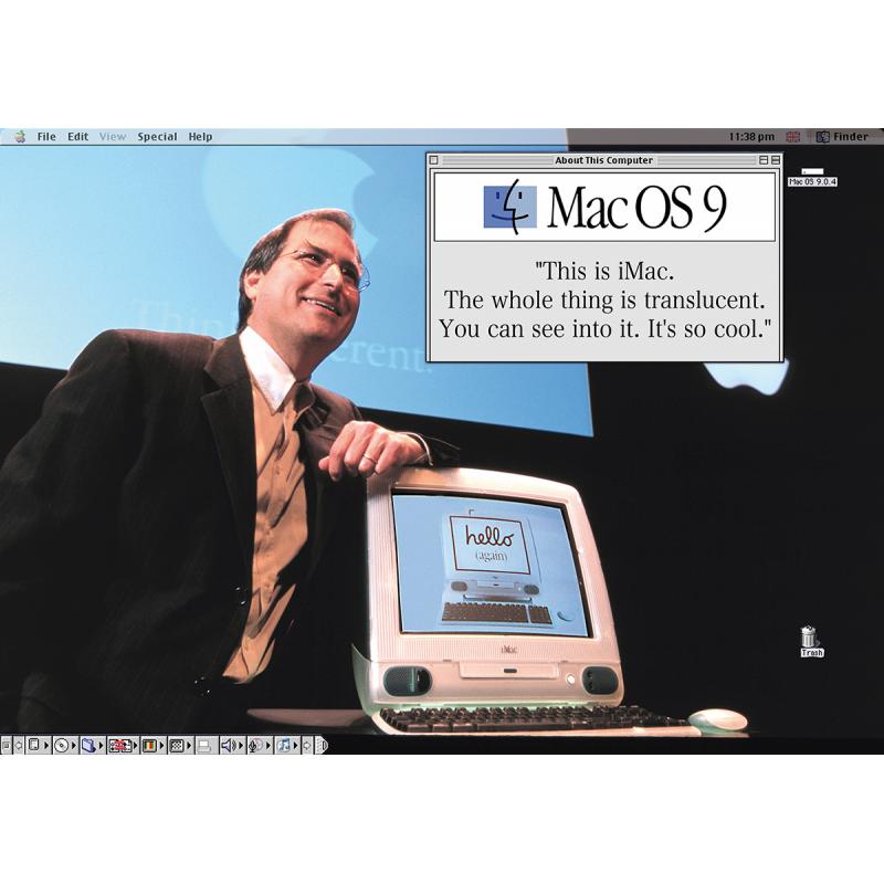 Apple Poster STEVE JOBS IMAC PRÄSENTATION 1984