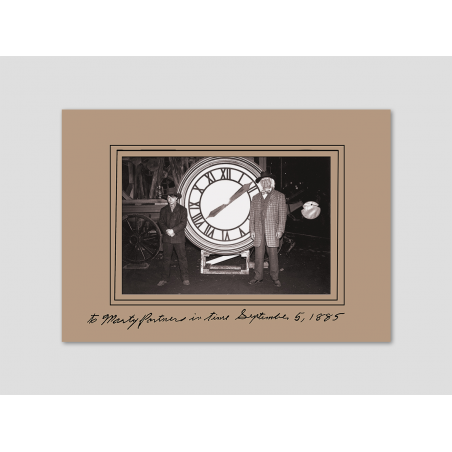 "Picture ""Doc and Marty in front of the clock tower"" with dedication"