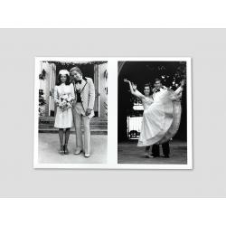 Klappkarte mit Lorraines Hochzeitsfotos