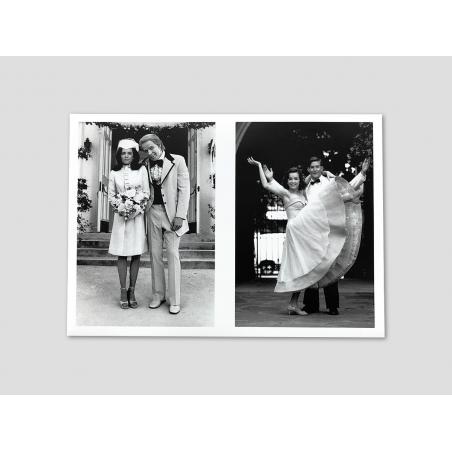 Folding card with Lorraine's wedding photos