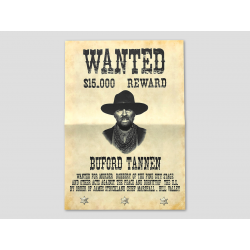 "Buford ""Mad Dog"" Tannen Wanted-Poster"