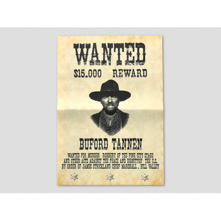 """Buford """"Mad Dog"""" Tannen Wanted Poster"""