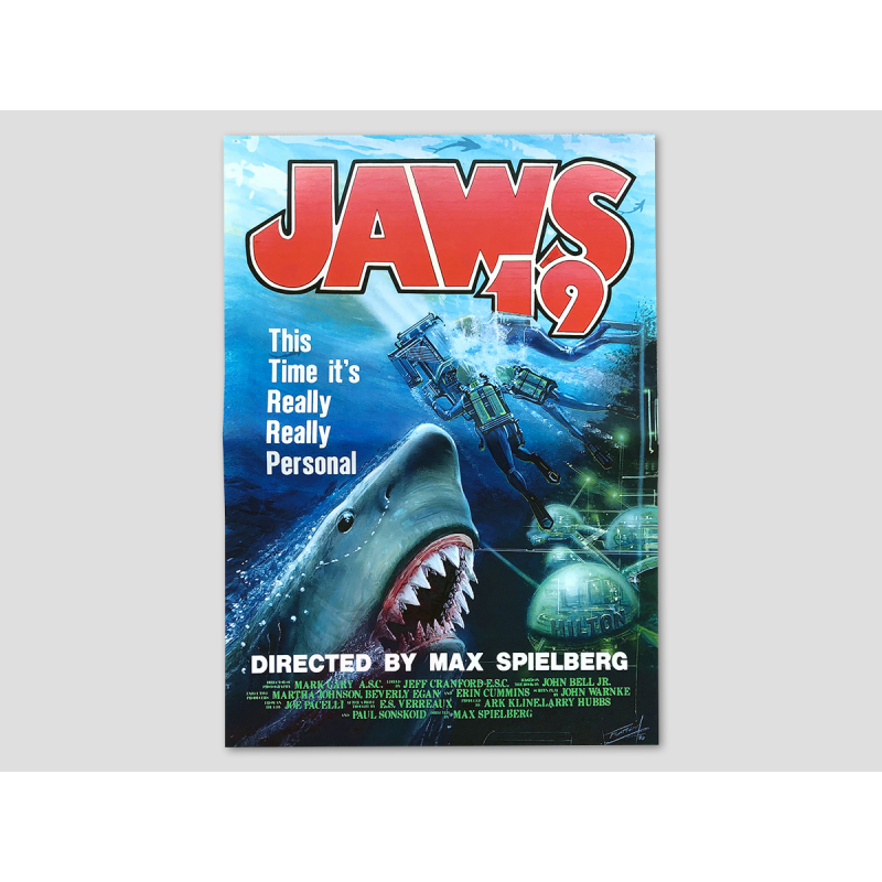 """Poster from the movie """"Jaws 19"""""""