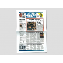 """Titelseite USA TODAY """"Gang Jailed"""""""
