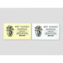 Eintrittskarte für das Biff Tannen Museum