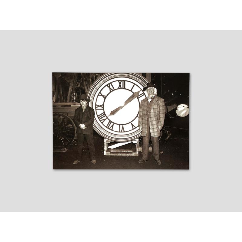 """Foto """"Doc und Marty vor der Rathausuhr"""""""