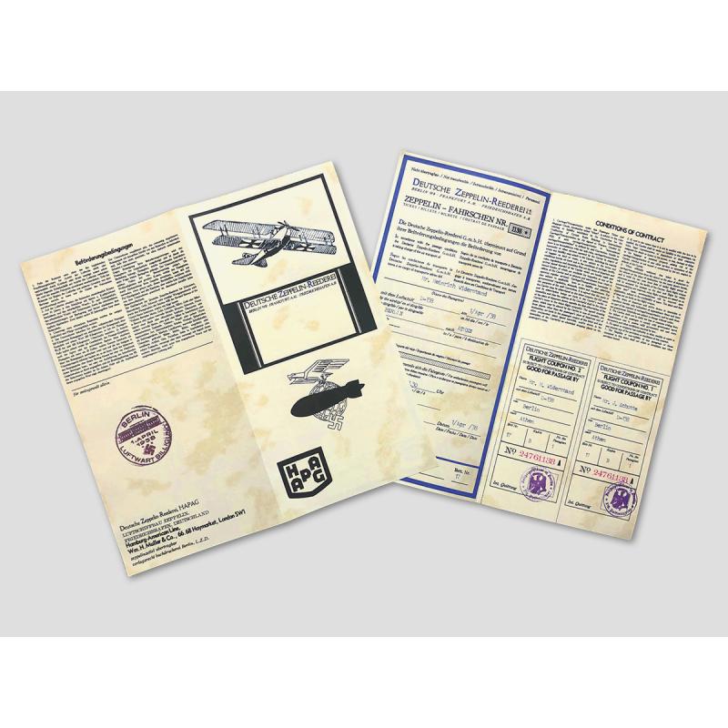 """Zeppelin ticket """"Deutsche Zeppelin-Reederei"""""""