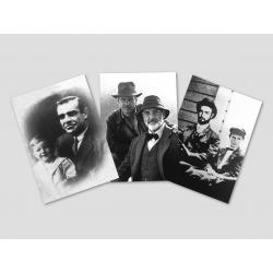 3 Fotos von Henry Jones Sr. und Sohn Indy