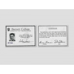 "Indiana Jones Identification Card ""Barnett College"""