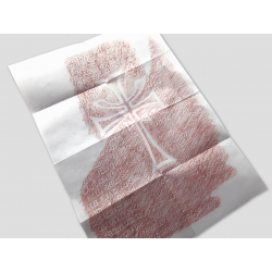 Grail table rubbing on parchment paper
