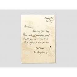Brief von Henry an Indy