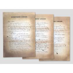 Brief von Doc an Marty 1885 - 3-teilig