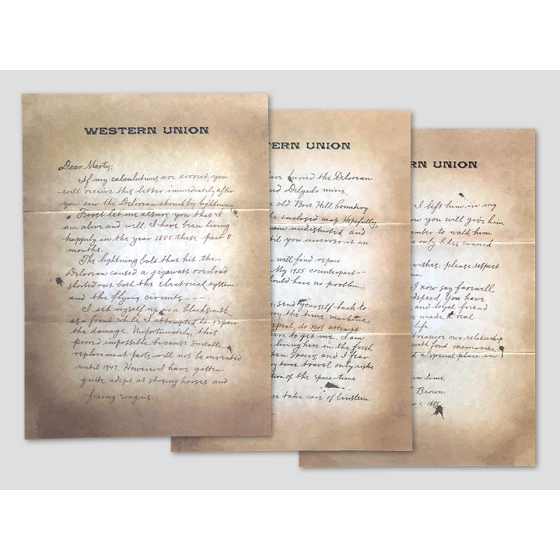 Letter from Doc to Marty 1885 - 3 pieces