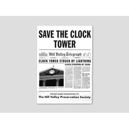 """""""Save the Clock Tower"""" Flyer white"""