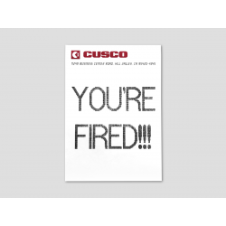 """YOU'RE FIRED!!!"" Fax"