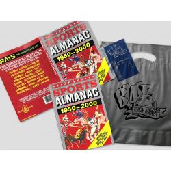 BUNDLE: BTTF Grays Sports Almanac Movie prop set incl. dust cover, receipt and silver bag