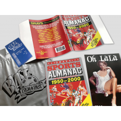 BUNDLE: BTTF Grays Sports Almanac Movie prop set incl. dust cover, receipt, silver bag, Oh Làlà