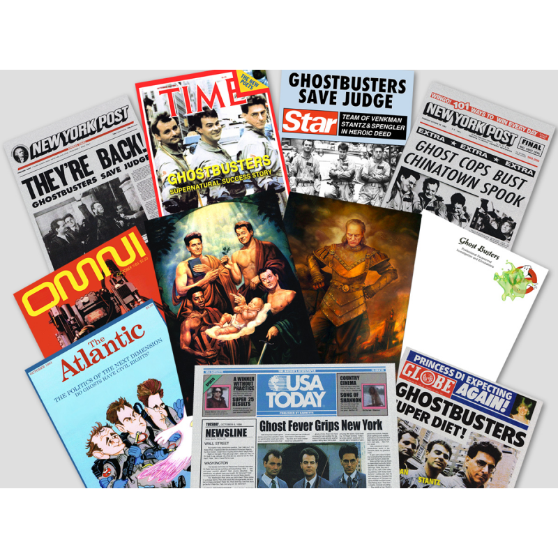BUNDLE: Ghostbusters Magazin-Cover Prop-Sammlung