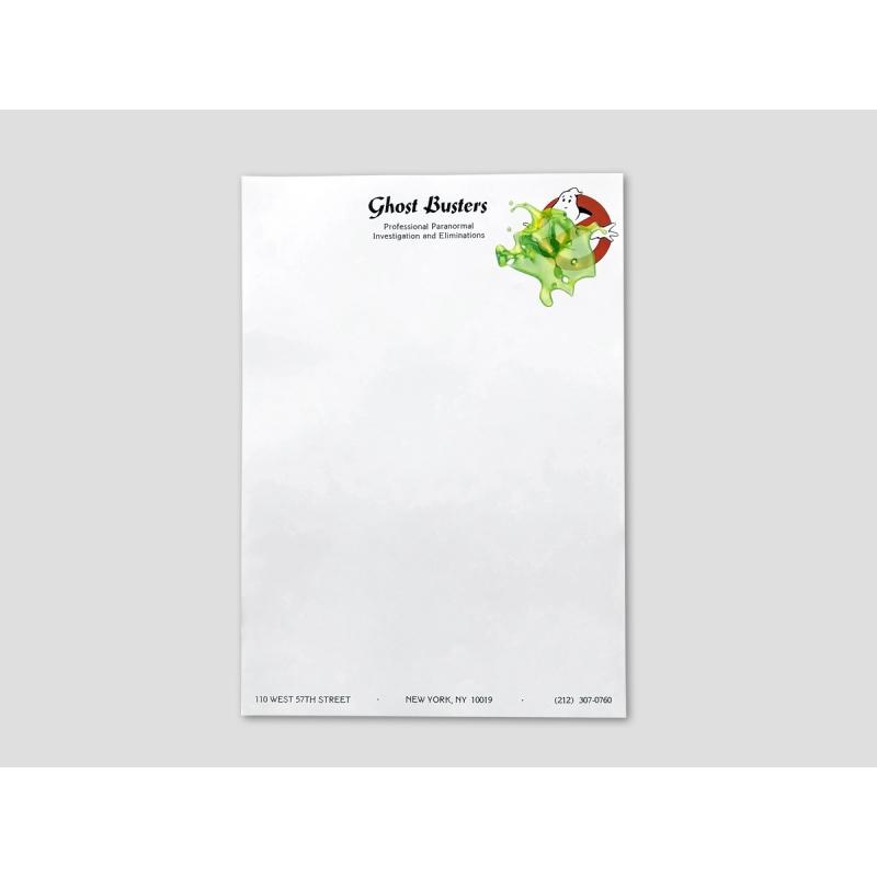 Briefpapier der Ghostbusters mit Slimer-Fleck