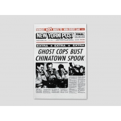 "Title page NEW YORK POST ""GHOST COPS BUST CHINATOWN SPOOK"""
