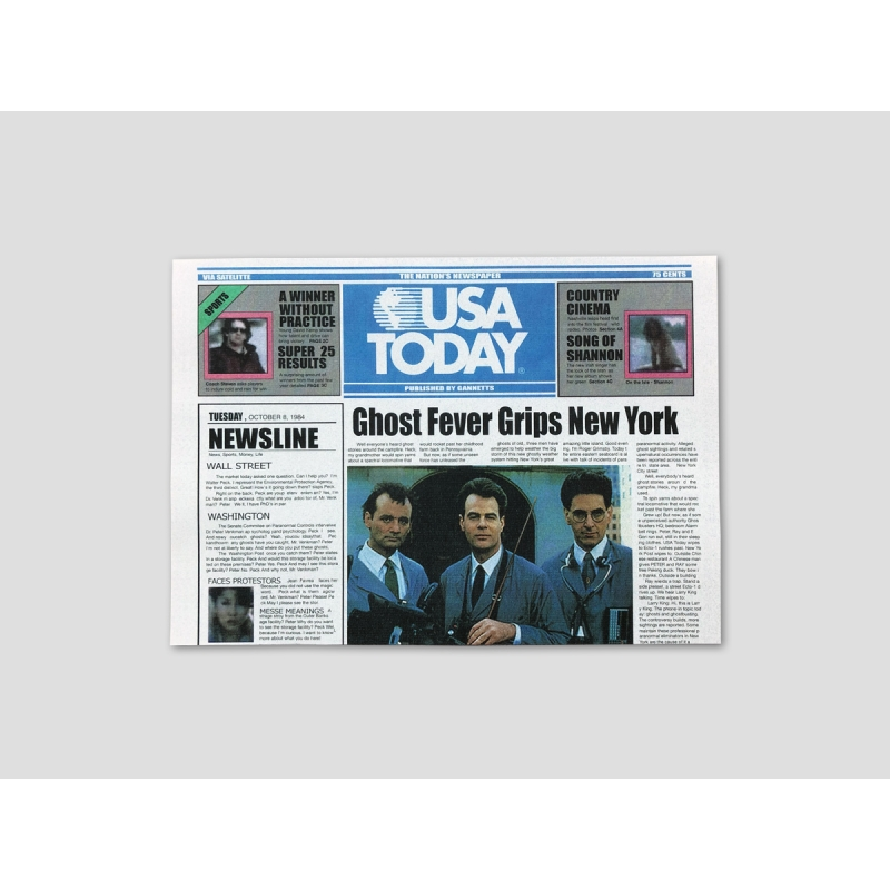 """Titelseite USA TODAY """"GHOST FEVER GRIPS NEW YORK"""""""