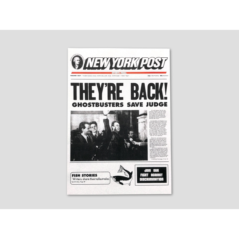 "Title page NEW YORK POST ""THEY'RE BACK!"""