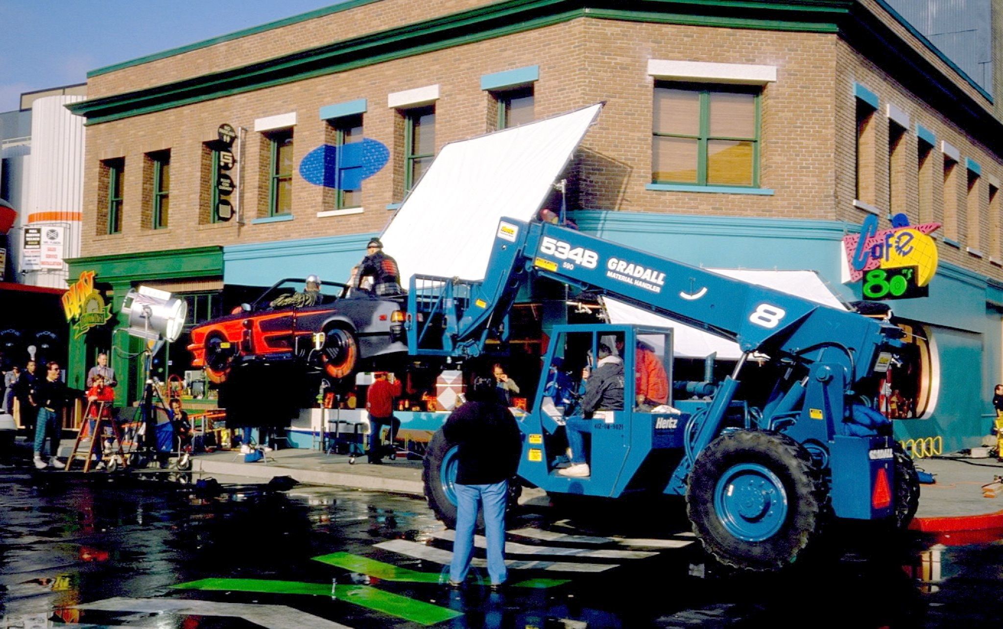 Filming on the area of Universal Studios.