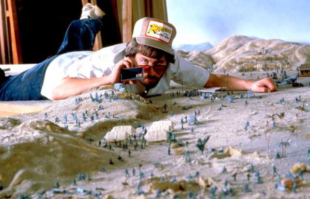 Steven Spielberg during the shooting preparations.